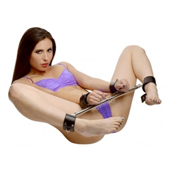 Adjustable Swiveling Spreader Bar w/ Leather Cuffs