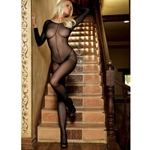 Sheer Long Sleeves Bodystocking
