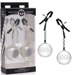 Master Series Nipple Clamps With Clear Weighted Balls