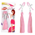 Frisky Tickle Me Pink Nipple Clamp Tassels